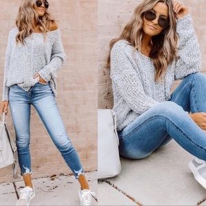 Relaxed Oversized Side Tie Sweater